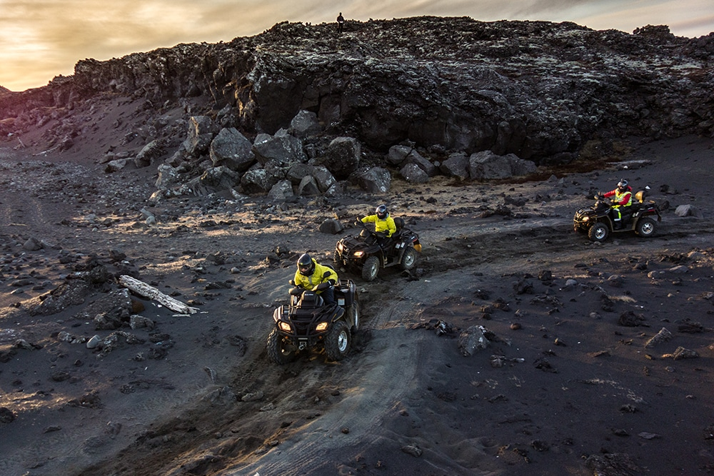 Quad black beach Atlantik DMC PCO Incentive Cruise Events Conferences Iceland