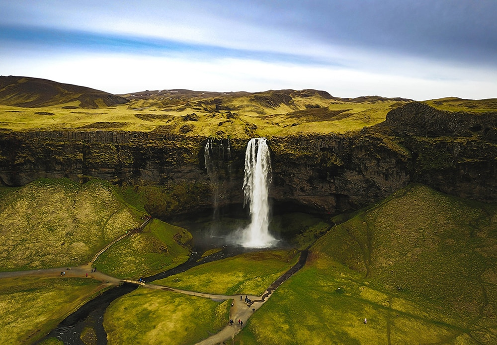 Seljalandsfoss waterfall Atlantik DMC PCO Incentive Cruise Events Conferences Iceland