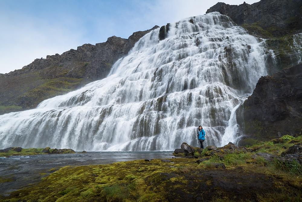 At Dynjandi waterfall