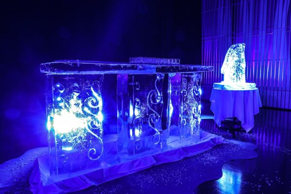 ice sculpture Atlantik Conference Iceland PCO Events Exhibitions